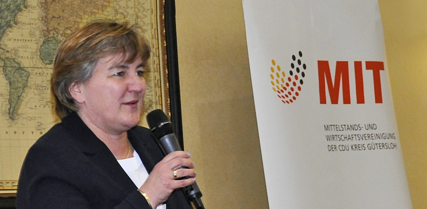 Birgit Ernst beim MIT-Frühjahrsdialog in Gütersloh