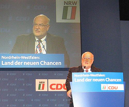 Ludger Kaup erläuterte vor dem CDU-Landesparteitag in Münster die Nachteile einer Amtszeitverlängerung von Bürgermeistern und Landräten.