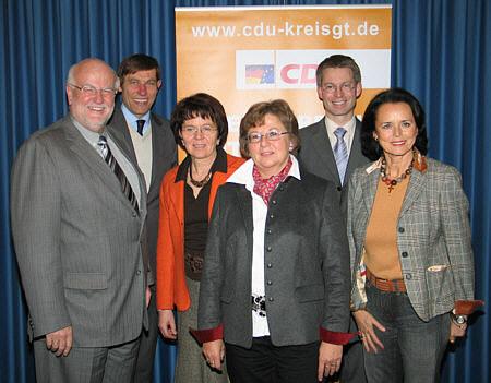 Blickten bei der CDU-Klausurtagung in die Zukunft des Verkehrswesens in Kreis und Land (v.l.): Ludger Kaup, Günter Kozlowski, Elisabeth Witte, Ursula Doppmeier, Dr. Michael Brinkmeier und Elke Hardieck.