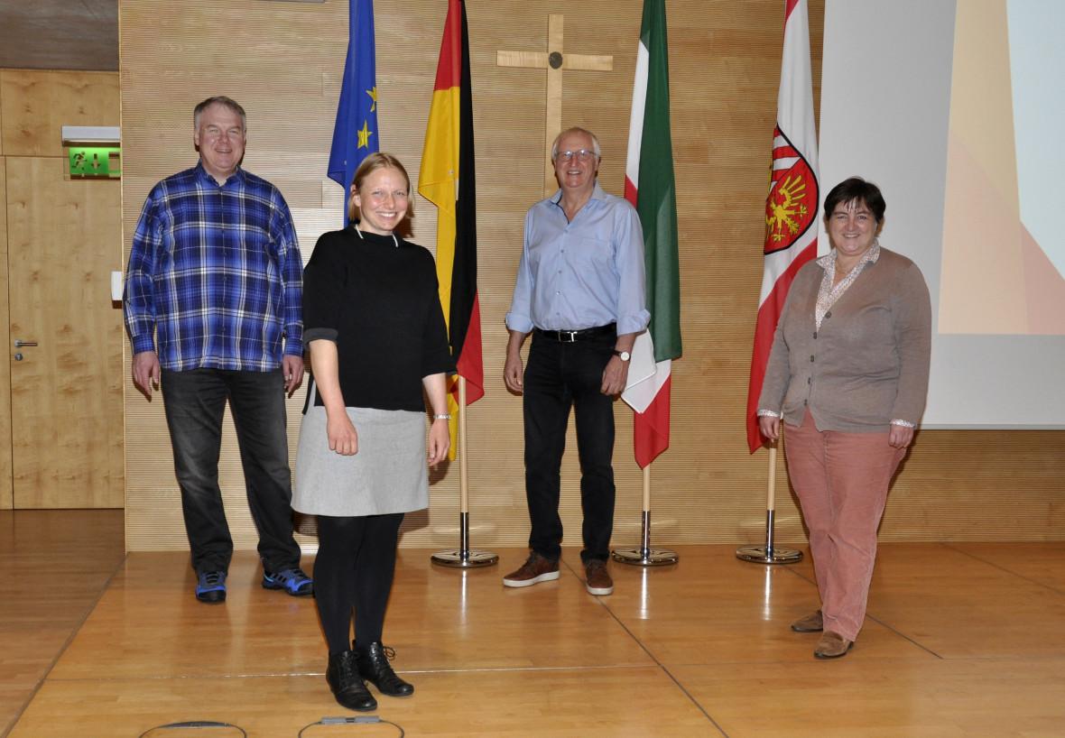 Der neue geschäftsführende Vorstand der CDU-Kreistagsfraktion (v.l.): Peter Wiese, Helen Wiesner, Helmut Kaltefleiter und Birgit Ernst.