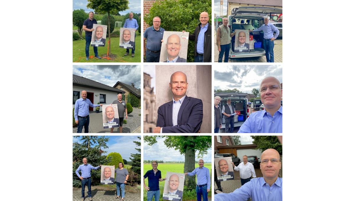 Plakatierung für die Bundestagswahl 2021