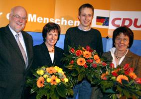 Kreisvorsitzender Ludger Kaup, Marianne Sirges-Zammert , Max Brüggemann, Elisabeth Witte