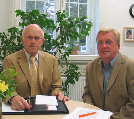 Befürworten die elektronische Gesundheitskarte: Hubert Deittert MdB und Andreas Westerfellhaus.