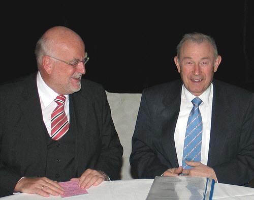 Ludger Kaup und Günther Beckstein auf dem Frühjahrsempfang des CDU-Kreisverbandes.