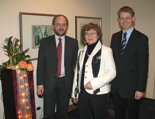 Sprachen über die Zukunft der WestLB (v.l.): Die Landtagsabgeordneten Volkmar Klein, Ursula Doppmeier und Dr. Michael Brinkmeier.