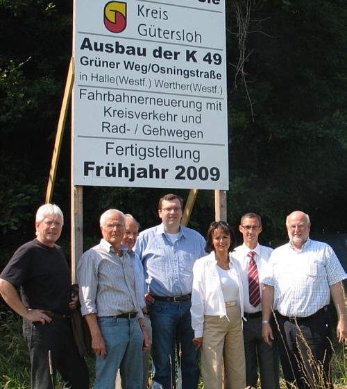 Die CDU-Politiker trafen sich vor Baubeginn an der Werther Schanze.