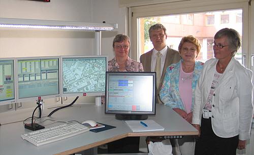 In der Kreisleitstelle (v.l.): Gerhild Richter, Dr. Heinrich-Josef Sökeland, Gudrun Tschorn und Angelika Deppe.