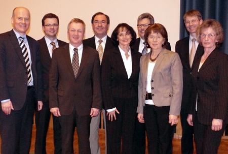 Der neugewählte CDU-Kreisvorstand auf dem Kreisparteitag in Steinhagen