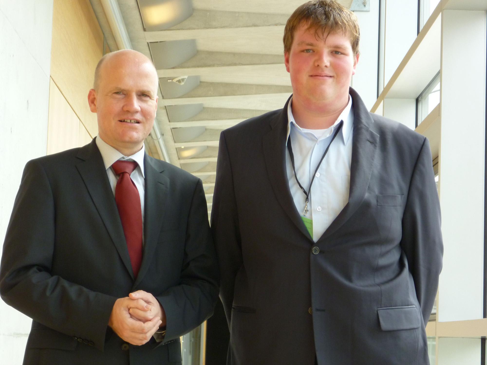 Jugend und Parlament, Ralph Brinkhaus MdB und Stefan Sendfeld