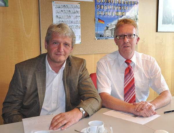 Optimistisch trotz schwieriger Finanzlage: Dr. Heinrich Josef Sökeland (l.) und Michael zur Heiden.