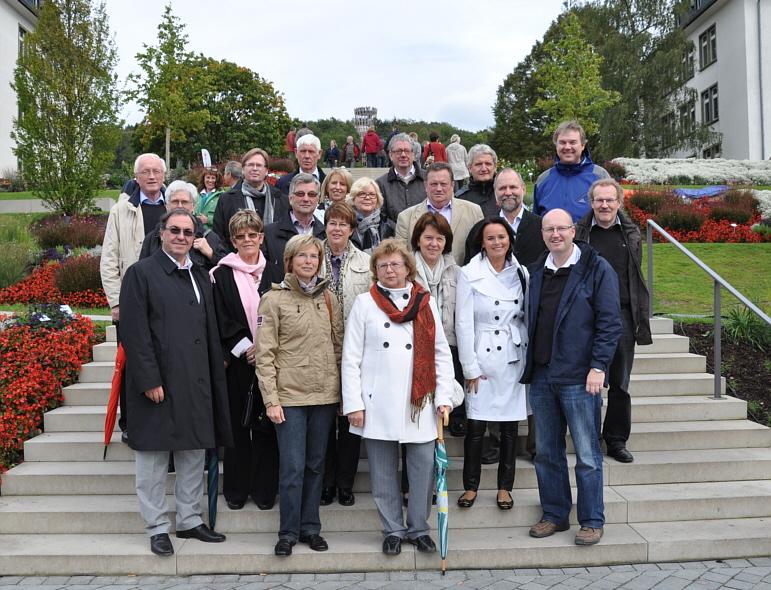 Die CDU-Kreistagsfraktion mit Bürgermeister Michael Esken (vorne rechts) auf der \