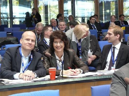 Ralph Brinkhaus MdB,  Dr. Christine Disselkamp und Dr. Christian Hermelingmeier auf dem Landesparteitag