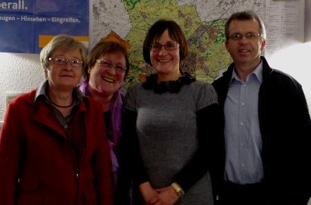 Der neue Vorstand der GPA, v. l.: Ulrike Biermann, Dr. Erika Bläser, Vorsitzende Dr. Ute Müller und Stefan Brand