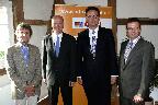 Dr. Martin Waibel, Ralph Brinkhaus, Dr. Günter Krings und Raphael Tigges