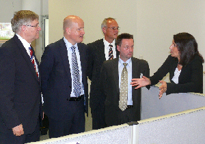 v. l.: Peter Hintze, Ralph Brinkhaus, Andreas Biermann, Ulrich Wesolowski (Flexicon AG), Gabriele Kison.