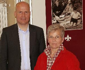 Ralph Brinkhaus MdB und Maria Brameyer, Vorsitzende der CDU Herzebrock-Clarholz