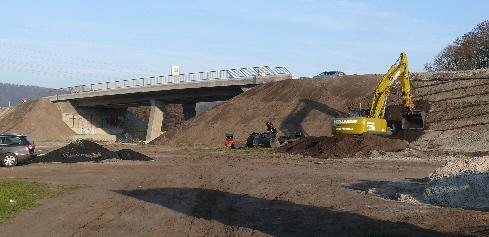 Bau der A 33 in Steinhagen
