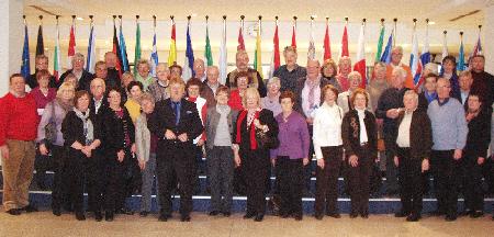 Besuchergruppe des CDU-Kreisverbandes mit Elmar Brok in Brüssel