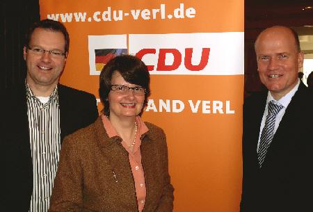 v. l. Matthias Humpert, Dr. Maria Flachsbarth MdB, Ralph Brinkhaus MdB