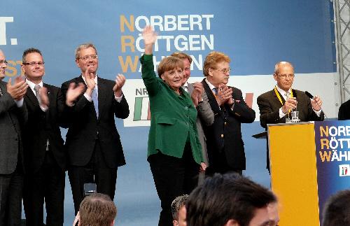 Bundeskanzlerin Angela Merkel in Paderborn