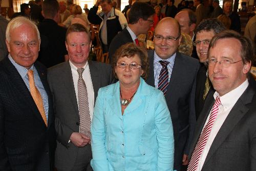 Cajus Cäsar, Dr. Helmut Bentler, Ursula Doppmeier MdB, Steffen Kampeter,  Christian Haase, Dr. Reinhard Göhner