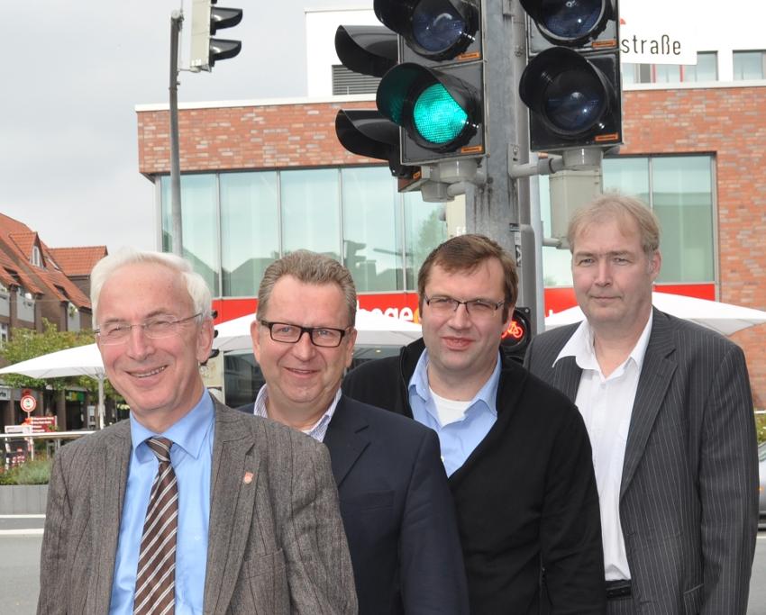 Wollen grünes Licht für die A 33 geben: die CDU-Politiker Arnold Wessling (Borgholzhausen), Detlev Kroos und Hendrik Schaefer (beide Halle) sowie Dirk Lehmann (Steinhagen).