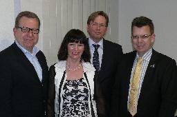 v. l. Detlev Kroos, Monika Schick, Klaus Dirks, Peter Woste