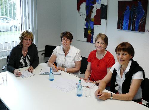 Organisieren den Tag der CDU: v. l. Ingrid Hollenhorst, Bernhild Köster, Rita Kordwittenborg und Monika Paskarbies. Es fehlen Ursula Doppmeier MdL und Stefan Sendfeld