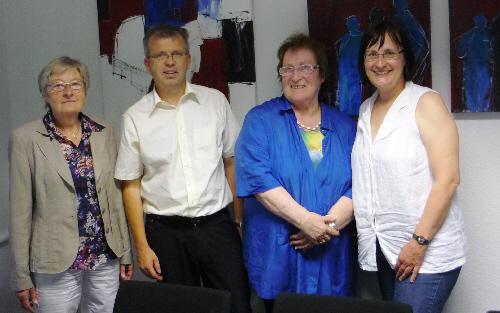 Der neue Vorstand der GPA: von links: Ulrike Biermann, Stefan Brand, Dr. Erika Bläser und Dr. Ute Müller