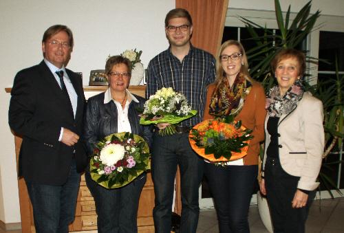 Foto: v.l. : Klaus Dirks, Daniela Ideke, Sebastian Kisker, Sandra Ideke, Marianne Kampwerth