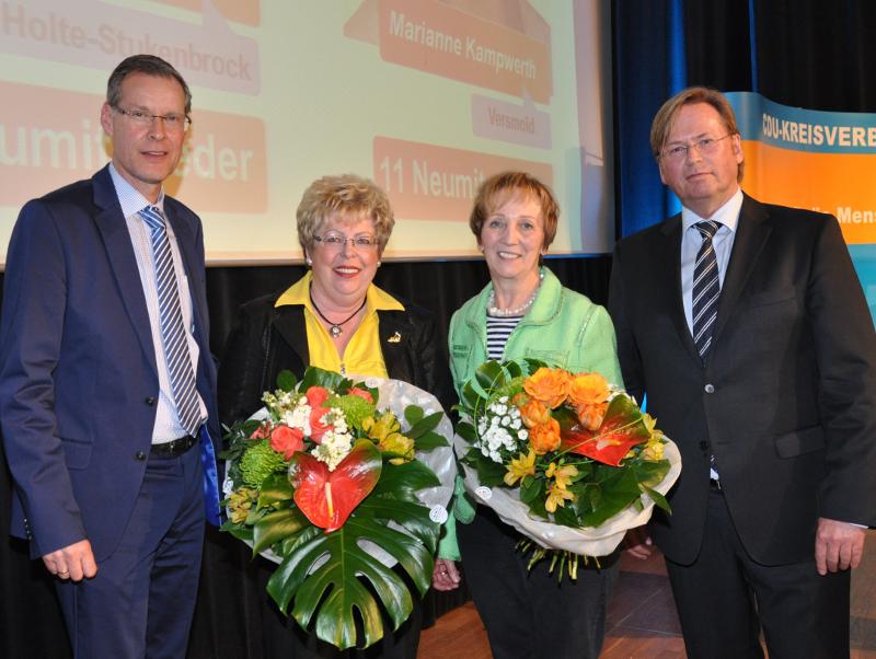 Sven Georg Adenauer, Annegret Jürgenliemke, Marianne Kampwerth und Klaus Dirks (v.l.)