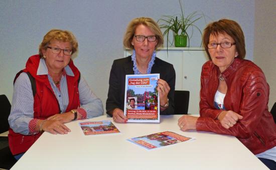 """Organisieren den """"Tag der CDU"""" : v. l. Ursula Doppmeier MdL, Henrika Küppers (Vorsitzende der CDU Rheda-Wiedenbrück) und Elisabeth Witte (stellv. CDU-Kreisvorsitzende)"""