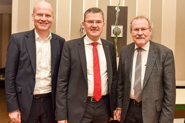 Ralph Brinkhaus, MdB, Roderich Kiesewetter, MdB und der Rietberger CDU-Stadtverbandsvorsitzende Bernhard Altehülshorst (v.l.n.r.)