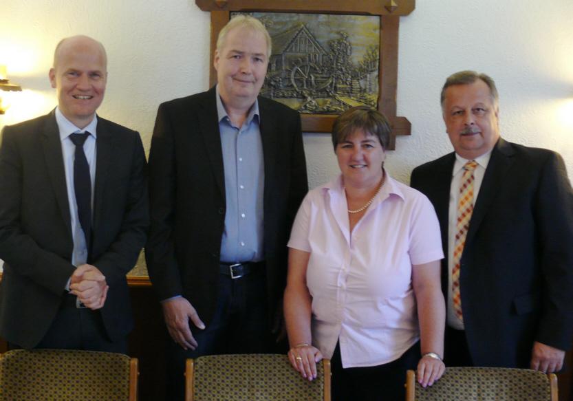 Ralph Brinkhaus MdB, Dirk Lehmann, Birgit Ernst und Andreas  Rüther, CDU-Kreisvorsitzender Bielefeld